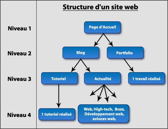 Hiérarchie d'un site web